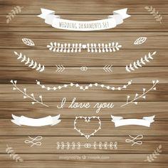 Weiße Hochzeit Ornament der Blätter Sammlung