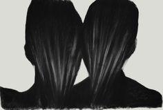Artist: Dragos Sulgheru  #charcoal #art #drawing #portrait #dark #contemporary Charcoal Art, Portraits, Long Hair Styles, Contemporary, Drawing, Dark, Artist, Beauty, Head Shots