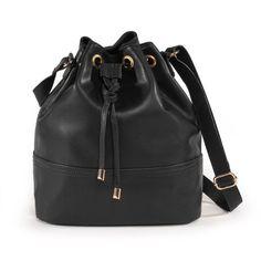 Soft Grey Väska i skinn Lingerie Accessories, Fashion Accessories, Winter Trends, Popsugar, Leather Handbags, Leather Backpack, Bucket Bag, Women Wear, Clothes For Women