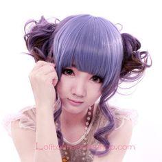 Lolita Purple Maid Sweet Cosplay Wig
