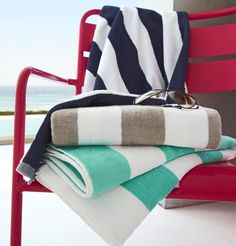 Here at King Of Cotton, we supply a spectacular range of hotel quality bedding, towels and so much more. Shop today and find your favourite hotels luxury bedding and towels just for you. Pool Towels, Bathroom Towels, Striped Towels, Beach Pool, Floor Chair, Color Splash, Baby Strollers, Outdoor, Cotton
