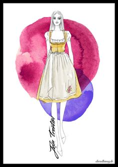 Fashion Sketches, Looking For Women, Watercolor Art, Looks Great, Graduation, Aurora Sleeping Beauty, Spring, Illustration, Beautiful