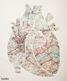The Map To My Heart DIY art project. Cant wait to make!