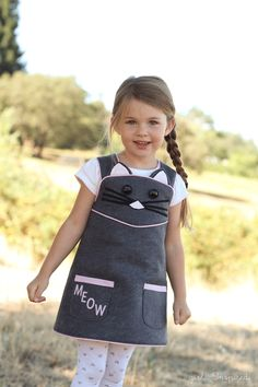 Kitty Cat Wrap Dress   Girl. Inspired. Pattern from The Cottage Mama: Daphne Wrap Dress and Top