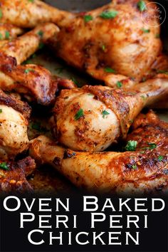 Oven Baked Peri Peri Chicken. A great recipe for an authentic South African/Portuguese chicken. It is easy, delicious and paleo friendly. Packed with flavour, get your favourite Nando's chicken at home. Recipe from Sprinkles and Sprouts | Delicious food for Easy Entertaining #periperi #piripiri #ovenbakedchicken #nandoscopycat