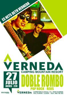 Live music en #EsNetsdethVerneda #VernedaCampingMountainResort #DobleRombo #µusicaendirecto #ValdAran
