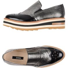 Zinda Moccasins ($155) ❤ liked on Polyvore featuring shoes, loafers, black, rubber sole shoes, moccasin shoes, black moccasins, wedge heel shoes and leather wedge shoes