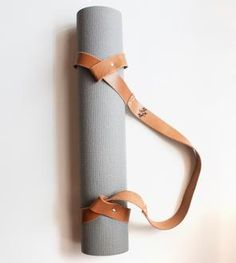 "Because you love leather... and need to ""man"" up the fact that you do yoga with me...  Leather Yoga Mat Strap"