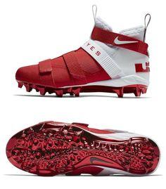 fb7b066cf23a eBay  Sponsored NIKE LEBRON SOLDIER 11 OHIO STATE FOOTBALL CLEATS AO9146  UNIV RED   WHITE