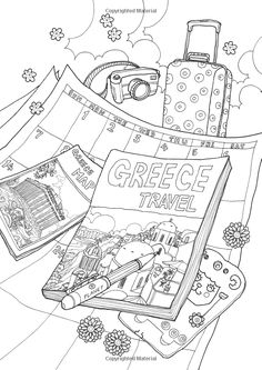 coloring europe magical greece a coloring book tour of greek lifestyle and culture - A Coloring Book