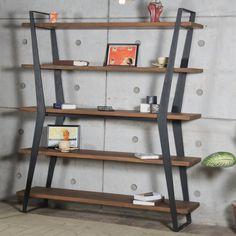 Sindelar Etagere Bookcase Wrought Iron Decor, Custom Steel Furniture, Steel Furniture, Iron Furniture, Etagere Bookcase, Furniture Details Design, Furniture Design, Metal Furniture, Wall Decor Living Room Modern