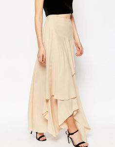 ASOS Floaty Maxi Skirt with Layers