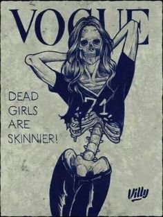 "I work at a psych hospital for girls with eating disorders. They would rather be skinny and dead then alive and ""fat"" Help redefine beautiful! centerforchange.com"