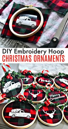 "Simple DIY Christmas Gifts Holiday Decoration Ideas""},""story_pin_data_id"":null,""type"":""pin These beautiful and simple DIY embroidery hoop Christmas ornaments are so darned fun. Make these at a fun craft night with friends! Diy Christmas Ornaments, Diy Christmas Gifts, Christmas Projects, Winter Christmas, Holiday Crafts, Snowman Ornaments, Christmas Carol, Buffalo Plaid Christmas Ornaments, Christmas Crafts To Make And Sell"