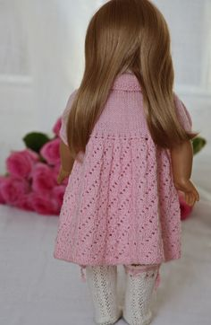 Goregeous design knitting patterns for baby dolls Yarn Dolls, Knitting Dolls Clothes, Crochet Doll Clothes, Doll Clothes Patterns, Clothing Patterns, Knitted Doll Patterns, Knitted Dolls, Baby Knitting Patterns, American Doll Clothes