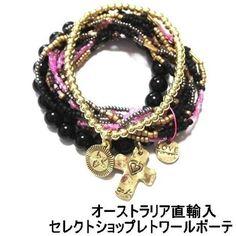 キャットハミル CAT HAMMILL ブレスレット セット レディース multi colored coco bracelet set black ブラック