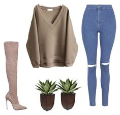 """sweater"" by blonde-4 ❤ liked on Polyvore featuring moda, Topshop y Le Silla"