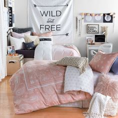 Shop Dormify for the hottest dorm room decorating ideas. You'll find stylish college products, unique room and apartment decor, and dorm bedding for all styles. Teen Girl Bedrooms, Teen Bedroom, Bedroom Decor, Bedroom Ideas, Bedroom Furniture, Rattan Furniture, Bedroom Themes, Girl Rooms, Bedroom Styles