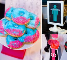 Boy Gender Reveal Party // Hostess with the Mostess® Gender Reveal Food, Baby Gender Reveal Party, Gender Party, Baby Shower Drinks, I Party, Party Ideas, Event Ideas, Party Themes, Barbie Party