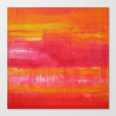 'Summer Day' Orange Red Yellow Abstract Art Throw Pillow by art-by-lang - Cover x with pillow insert - Indoor Pillow Canvas Art Prints, Fine Art Prints, Abstract Expressionism, Abstract Art, Picsart Background, Ap Art, Summer Days, Orange Red, Yellow