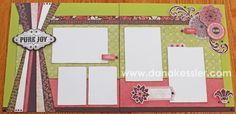Two page scrapbook layout Ivy Lane Cricut Artiste Girl Valentines Day Love Fun Friends #ctmh #criuct #scrapbooking #scraptabulousdesigns