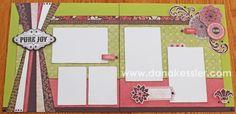 Two page scrapbook layout Ivy Lane Cricut Artiste Girl Valentines Day Love Fun #ctmh #criuct #scrapbooking #scraptabulousdesigns