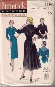 Butterick 5630: love the yoke, and the bustle-y skirt