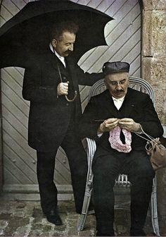 I fratelli Louis e Auguste Lumiere, inventori della tecnica dell'Autochrome