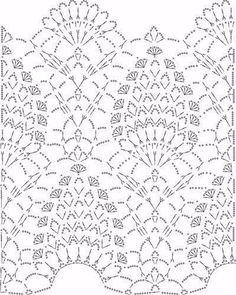 The circuit pattern crochet Crochet Stitches Chart, Crochet Motifs, Crochet Borders, Crochet Diagram, Crochet Doilies, Crochet Patterns, Crochet Russe, Russian Crochet, Fillet Crochet