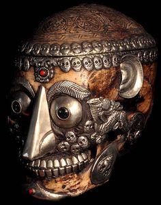 I'll see your carved skulls and raise you Tibetan Kapala skulls.