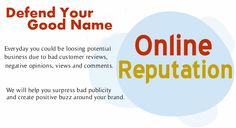 Create a positive buzz around your brand with our #OnlineReputation Management Service