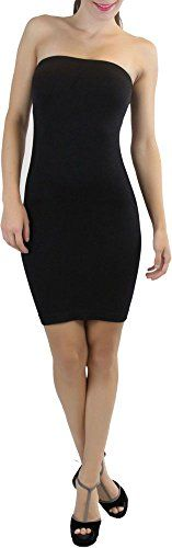 ToBeInStyle Womens Seamless Body Con Tube Dress  Black  One Size * Learn more by visiting the image link.