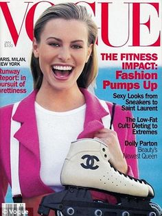 Taylor was the youngest person to ever grace the cover of Vogue, which she landed in 1990 ...