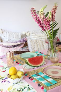 6 Little Tips To Style A Dreamy Summer Brunch Table - Baba Souk