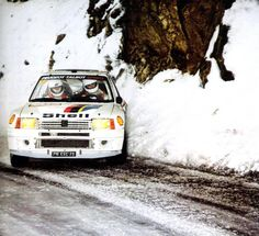 Vatanen @ Monte Carlo 1985. One of my favorite rally images of all time.