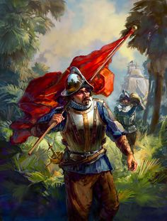 Spanish Conquistadores in the New World