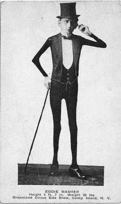 "Charles Eisenmann - Eddie Masher, the ""Skeleton Dude""    (Bizarreland)"