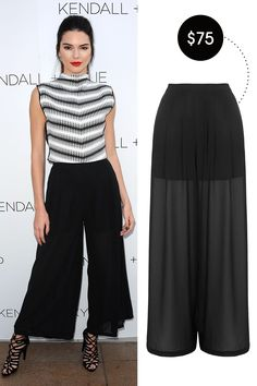 Topshop Wide Leg Palazzo Trousers by Kendall + Kylie at Topshop, $75; topshop.com   - ELLE.com