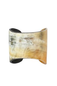 The Josephine Cuff by Faire Collection is handcrafted in Vietnam with upcycled bullhorn.