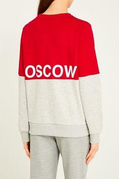 Хлопковый свитшот color block BLANK.MOSCOW - Свитшот бренда Blank в интернет-магазине модной дизайнерской и брендовой одежды