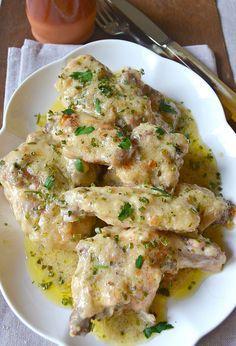 Pollo alla erbe aromatiche--ITALIA by Francesco -Welcome and enjoy- frbrun Meat Recipes, Chicken Recipes, Cooking Recipes, Healthy Recipes, Italian Dishes, Italian Recipes, Pollo Chicken, Salty Foods, Polenta