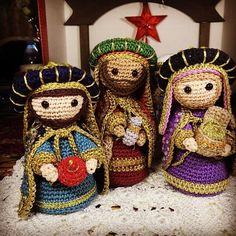Crochet Christmas Decorations, Christmas Crochet Patterns, Holiday Crochet, Christmas Knitting, Crochet Home, Crochet Patterns Amigurumi, Knit Or Crochet, Crochet Gifts, Amigurumi Doll