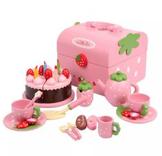 Pink Wooden Picnic Play Set by Mother Garden Toys