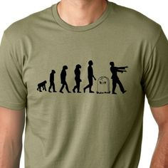 Zombie Evolution funny tshirt by ThinkOutLoudApparel on Etsy, $12.99