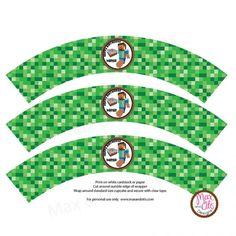 Free Printable Minecraft Cupcake Wrappers cakepins.com