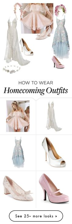 """Untitled #1181"" by lonelywhovian on Polyvore featuring Notte by Marchesa, Badgley Mischka, Kate Spade, Monsoon and Pinup Couture"