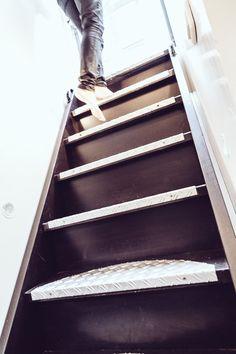 black stairways