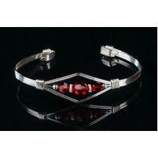 #bangle #crystal #sterling #silver #handmade #ooak Jewelry Showcases, Anklets, Bangle, Panda, Gemstones, Sterling Silver, Crystals, Bracelets, Handmade