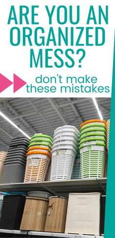 Are you an organized mess? Organizing mistakes to avoid. Declutter your home and keep it clutter-free with these organizing tips and ideas that don't add to the feel of a messy house. Daily Cleaning Checklist, Cleaning Quotes, House Cleaning Tips, Cleaning Hacks, Organisation Hacks, Small Space Organization, Storage Hacks, Diy Organization, Declutter Your Home