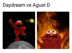 I never thought that one day I'd laugh at a kpop meme explained with Sesame Street characters , but sometimes it be like that,